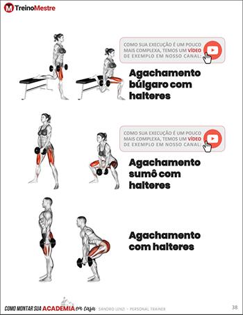 exercícios para academia em casa