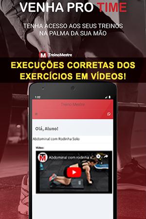 Execuções corretas dos exercícios em vídeos!
