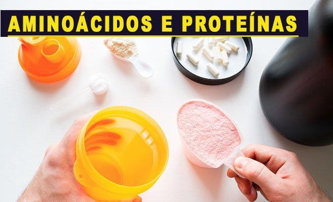 suplementos de proteínas e aminoácidos