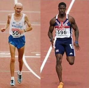 corredores X maratonistas
