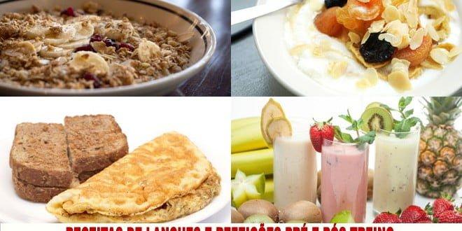14 Receitas de lanches e refeições pré e pós-treino