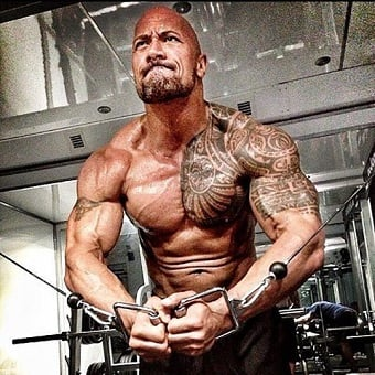 treino e dieta do Dwayne Johnson the rock pain and gain