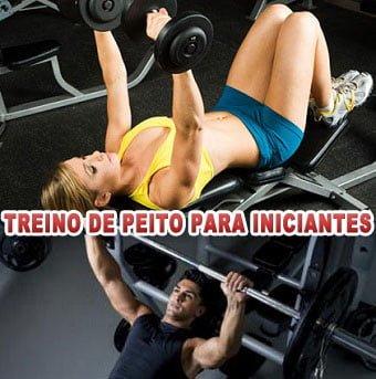 treino exercícios de peito para iniciantes
