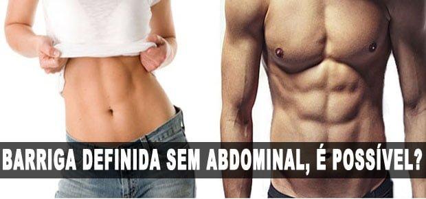 barriga definida sem abdominal