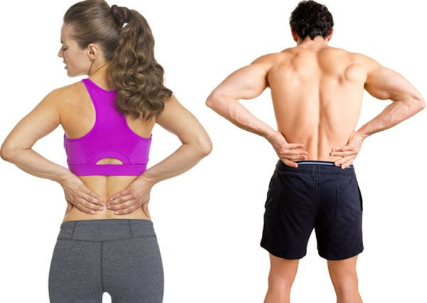 Dor e problemas na coluna - Teino de musculação
