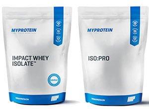 Impact Whey Isolate e ISO:PRO 97 da MyProtein