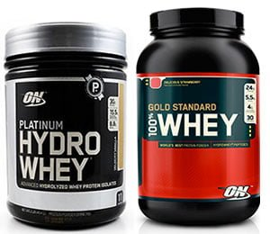Platinum Hydro Whey e 100% Whey Gold Standard - Optimum Nutrition