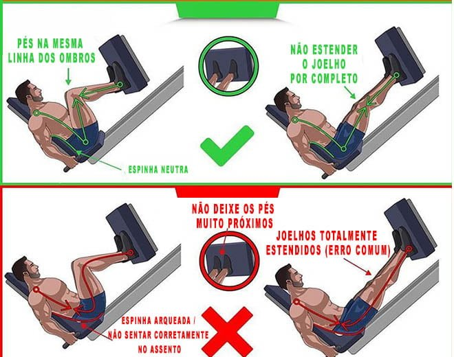 estender joelhos leg press