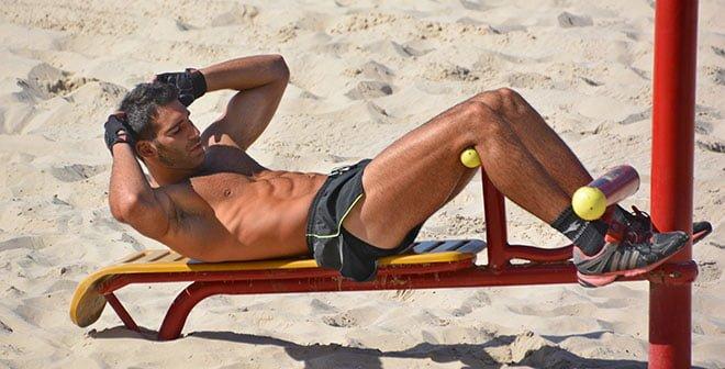 abdominal na praia