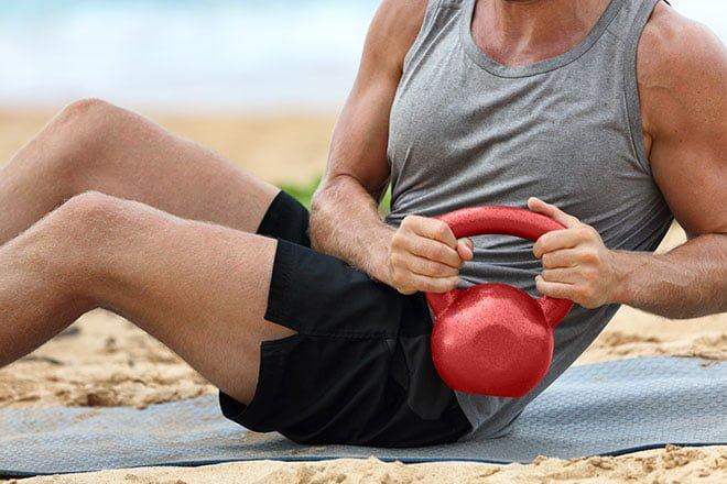 exercícios na areia