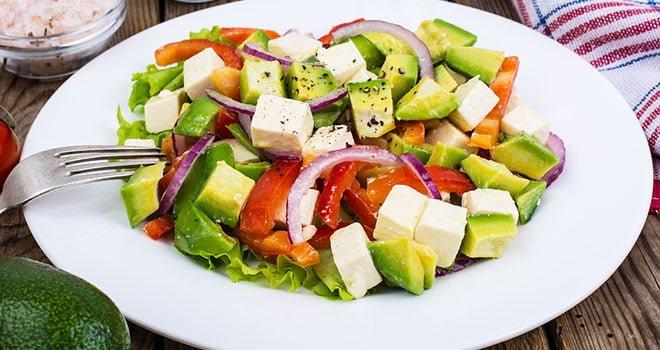 Receitas com Tofu - Salada