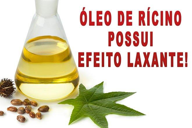 Efeito Laxante do óleo de rícino
