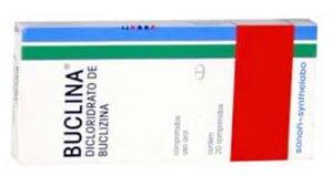 Buclina dicloridrato de buclizina