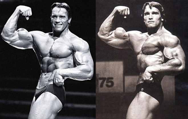 Arnold Schwarzenegger no Mr Olympia 1976 80