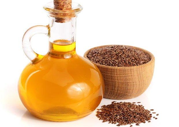 óleo e semente dourada