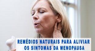 sintomas menopausa remédios naturais e suplementos