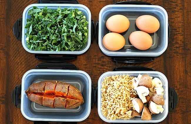 alimentação pós treino comida