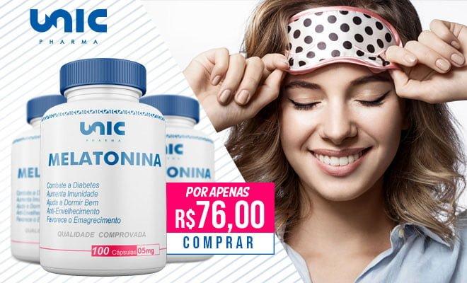 Melatonina da Unic Pharma – Bom para o sono e para saúde!