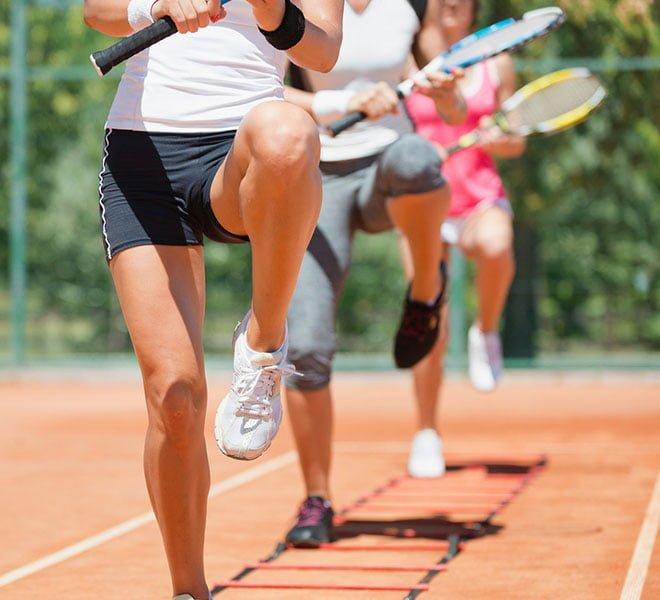 tenistas preparação física treinos exercícios