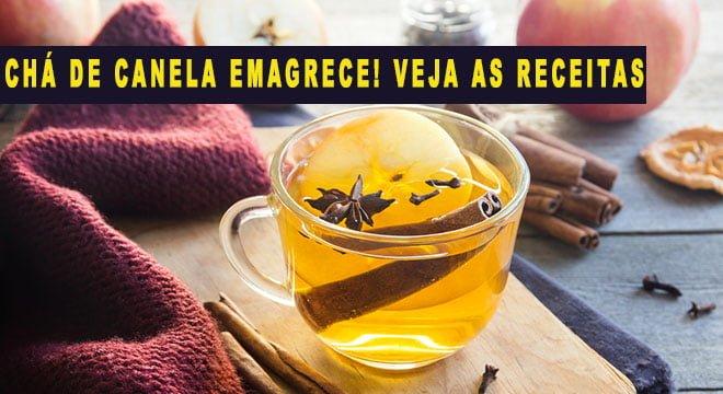 chá de canela emagrece receita