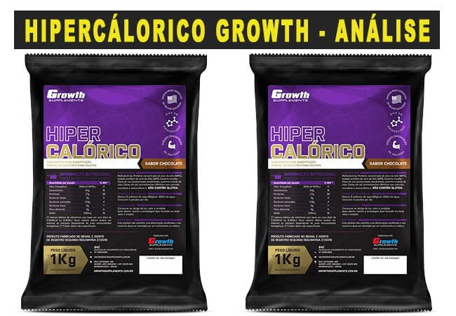 300d3b995 Hipercalórico da Growth Supplements → Análise Completa