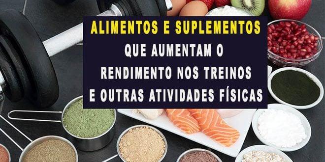 Alimentos e Suplementos que aumentam o rendimento musculação corrida
