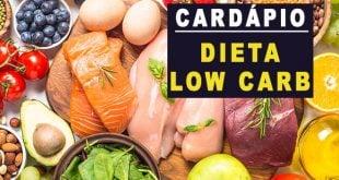 dieta low carb cardápio
