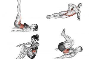 8 Exercícios abdominais para fazer em casa