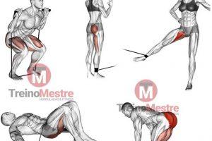 12 Exercícios para pernas e glúteos com elásticos, extensores e band