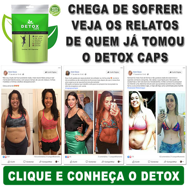 Veja os relatos do Detox Caps
