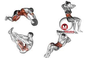 6 Melhores exercícios para abdominal superior [FICHA DE TREINO]